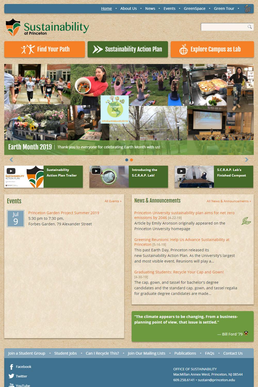 Sustainability at Princeton